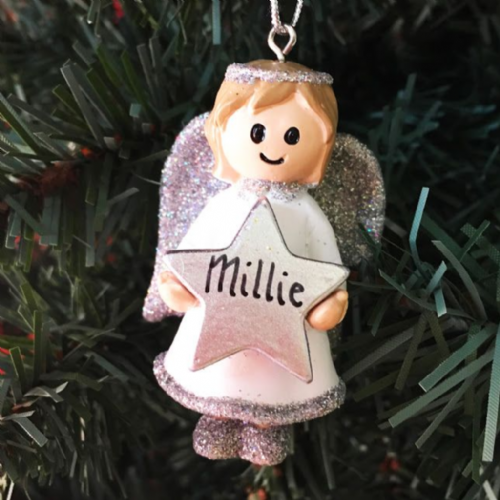 Angel with Silver Star - Personalised